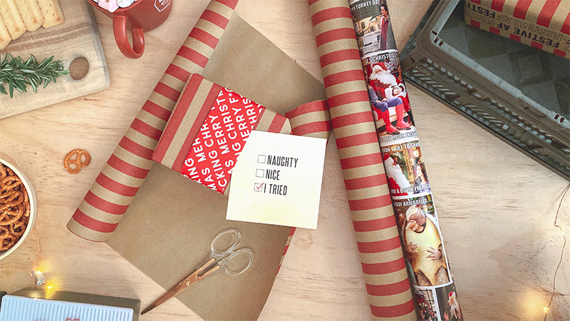 Typo wrapping paper