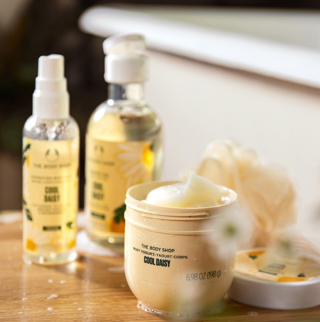 cool daisy products from The Body Shop