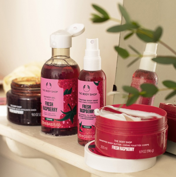 Fresh Raspberry products from The Body Shop