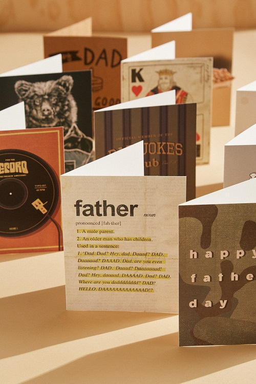 A variety of Father's Day cards