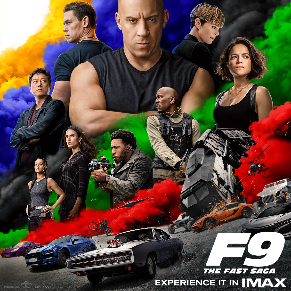 Movie poster for Fast and Furious 9.