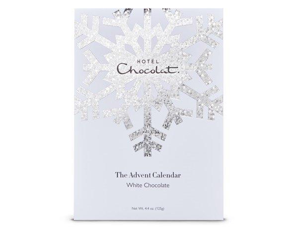 White advent calendar from Hotel Chocolat.