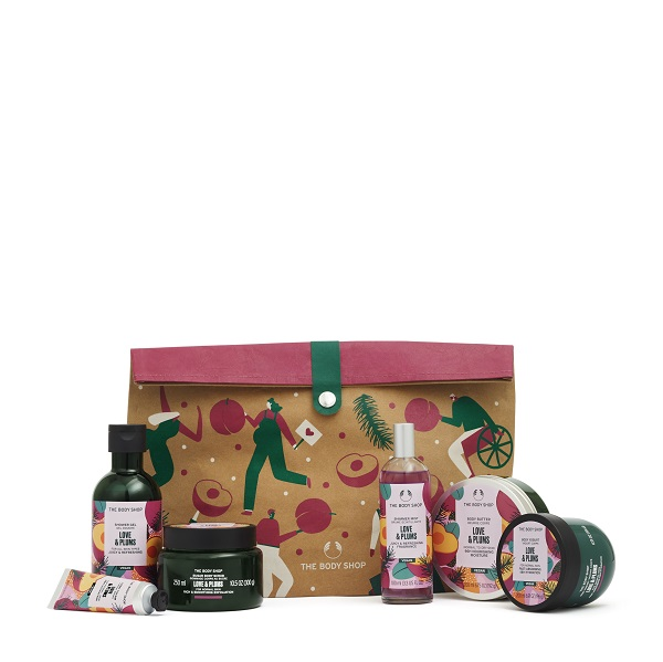 Love and plums gift set from the body shop.