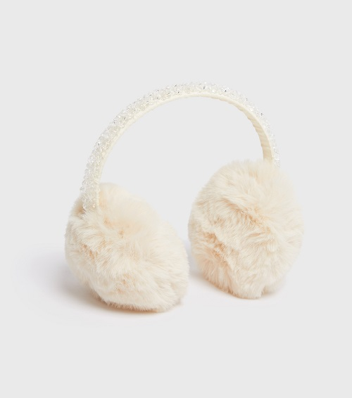 a pair of white earmuffs