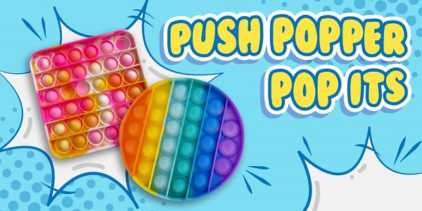 Image of two push popper toys.