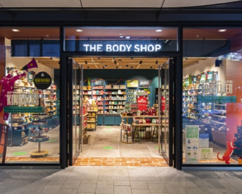 The Body Shop store front photo from 100 Liverpool Street.
