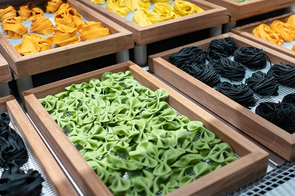 Array of Pasta's at Eataly Broadgate London
