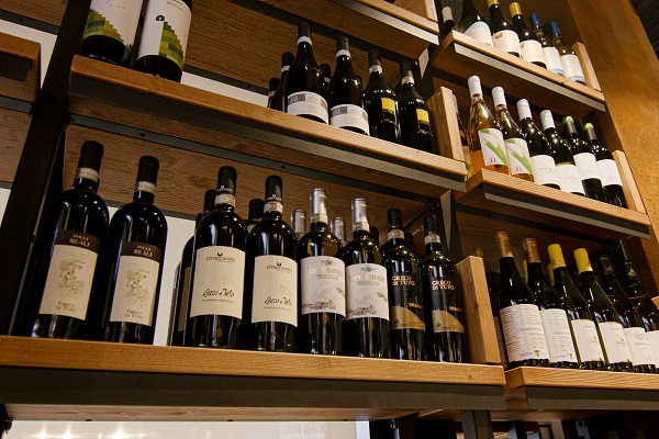 Section of Eataly Wine cellar