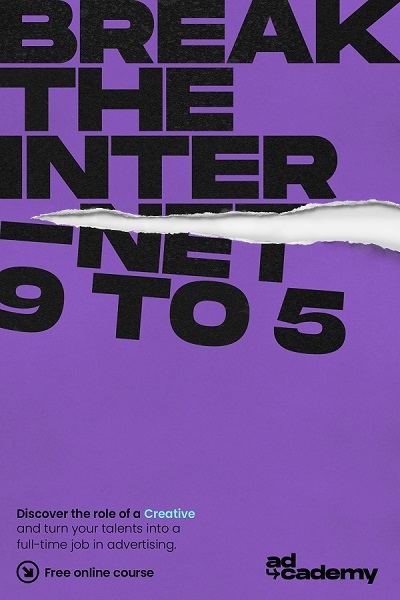 purple poster with the words Break the Internet 9 to 5 in black text.