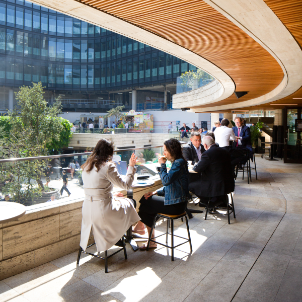 Exterior of Beany Green at Broadgate
