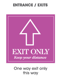 One way exit only this way sign