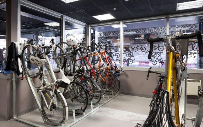 Bike storage at 2FA Storey Broadgate