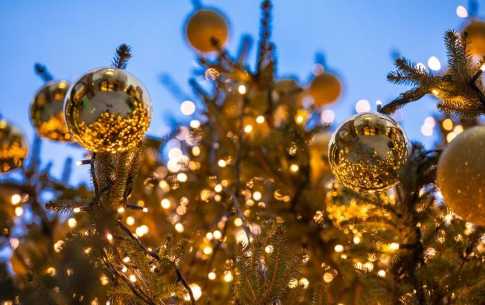 Baubles on a Christmas Tree