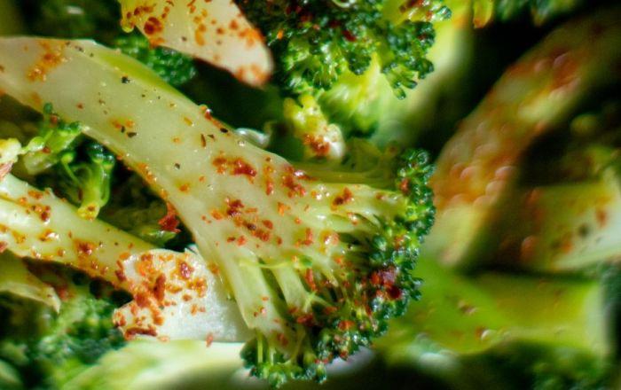 chopped Broccoli with paparika