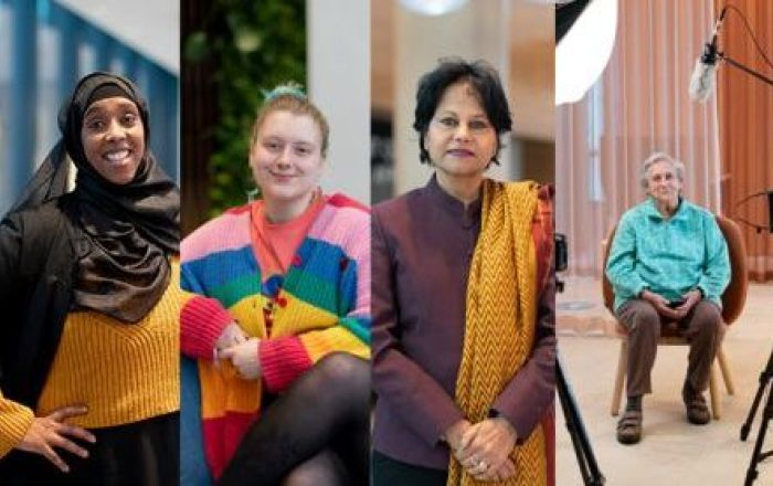 Image with four different women.