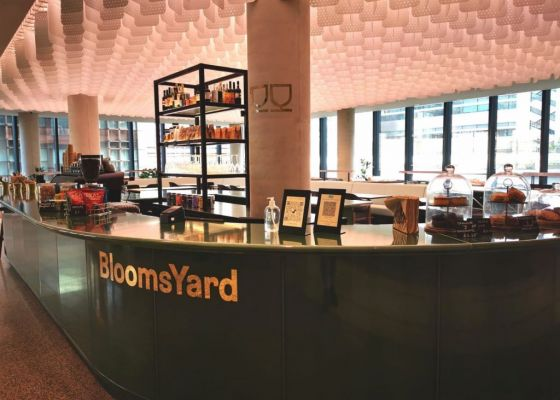 Bloomsyard Wine bar and cafe 100 Liverpool Street London