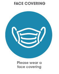 Please wear a face covering icon