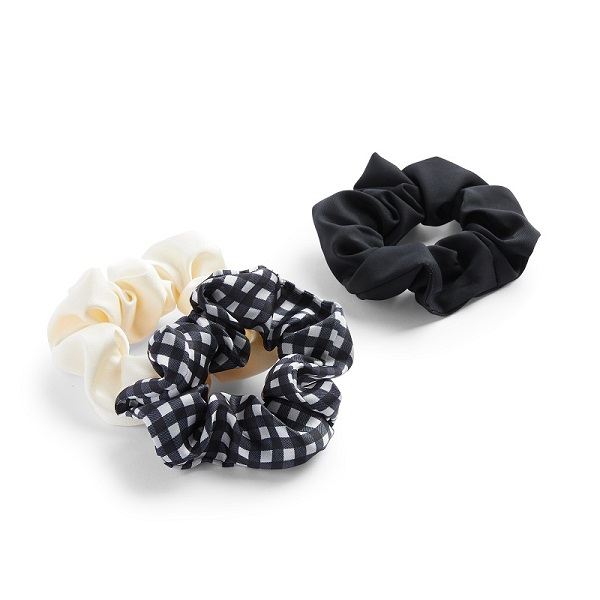 Three scrunchies.