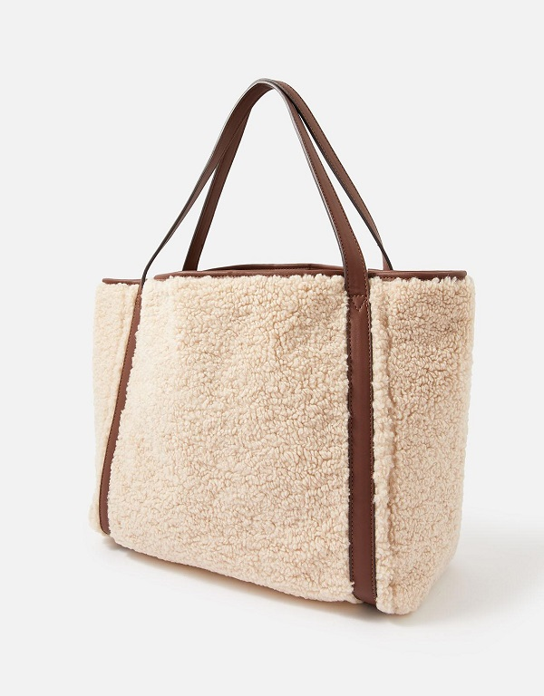 A bag with a woolly outside.