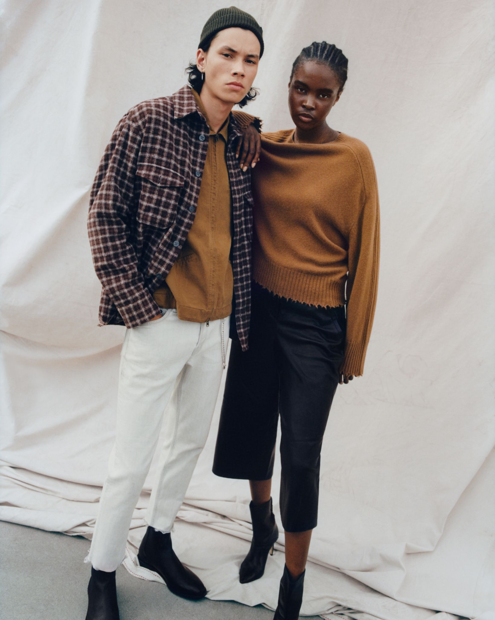 male and female model for allsaints