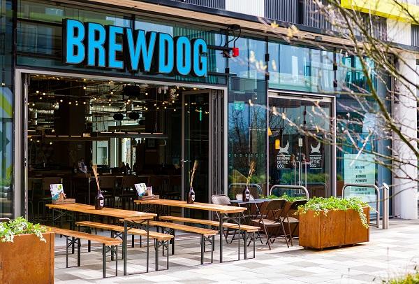 Exterior image of Brewdog at Drake Circus