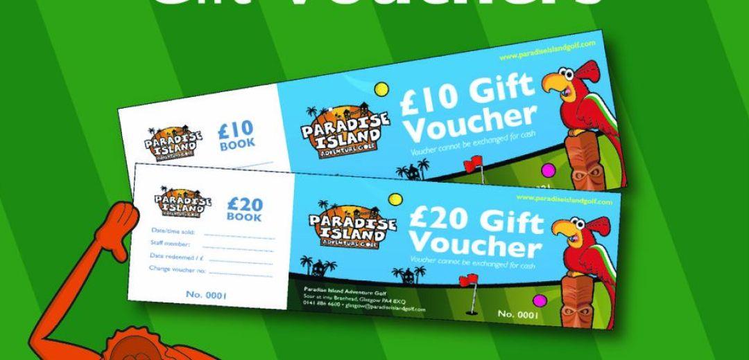 Paradise Island Adventure Golf   Gift Vouchers