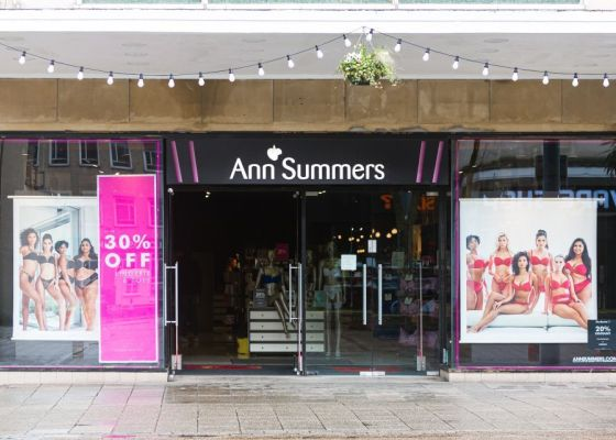Ann Summers store front.