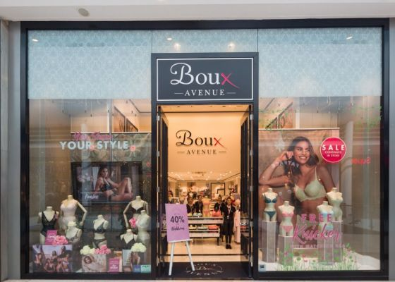 Front of Boux Avenue store.
