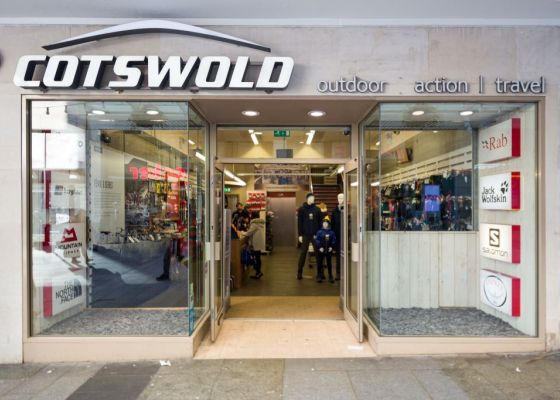Store front of Cotswold.