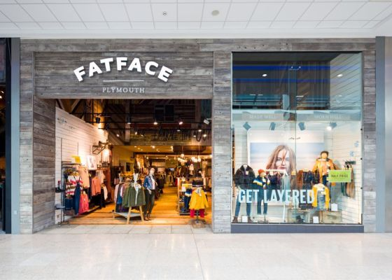 Fatface store front.