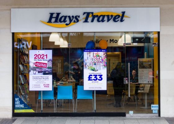 Hays Travel store front.