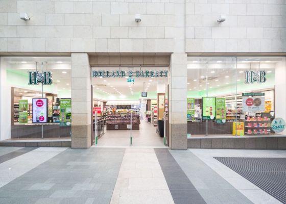 Holland & Barrett store front.