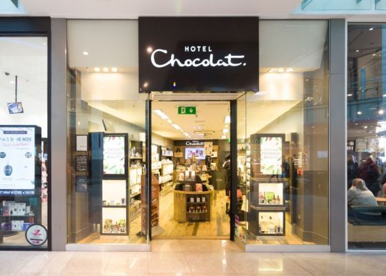Hotel Chocolat store front.