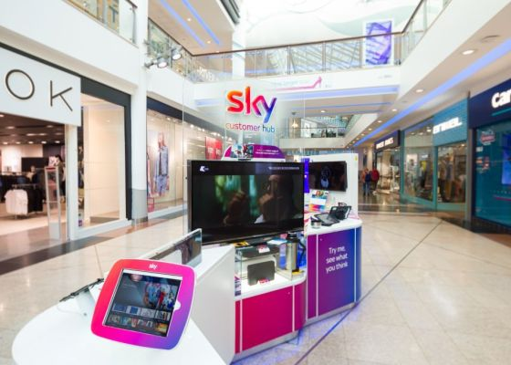 Sky stand in Drake Circus.