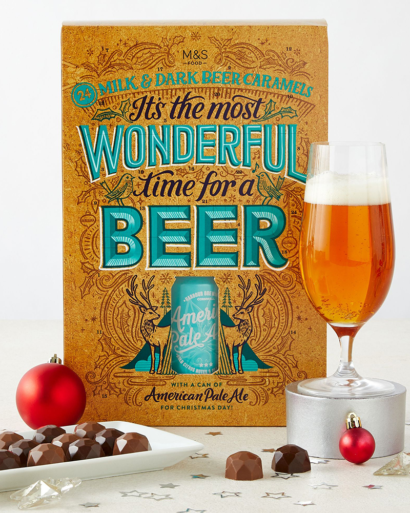 M&S It's The Most Wonderful Time For A Beer Advent Calendar