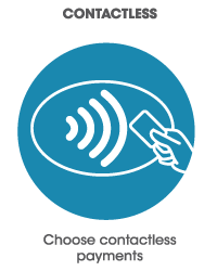Choose contactless payments