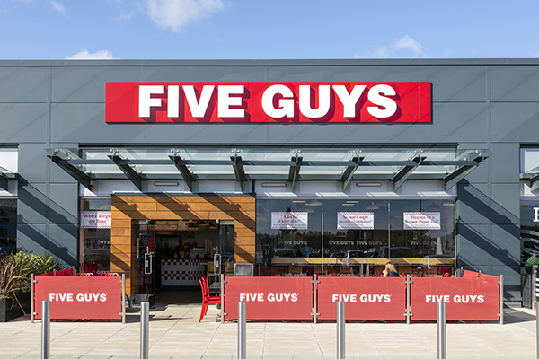 Five Guys store front