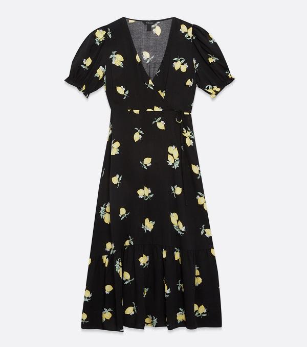 Lemon print dress from New Look.