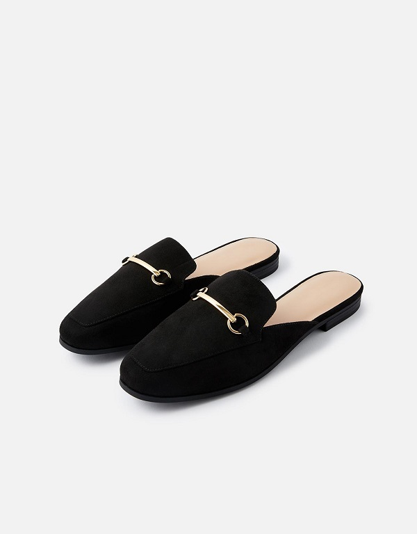 Black slip on loafers from Accessorize