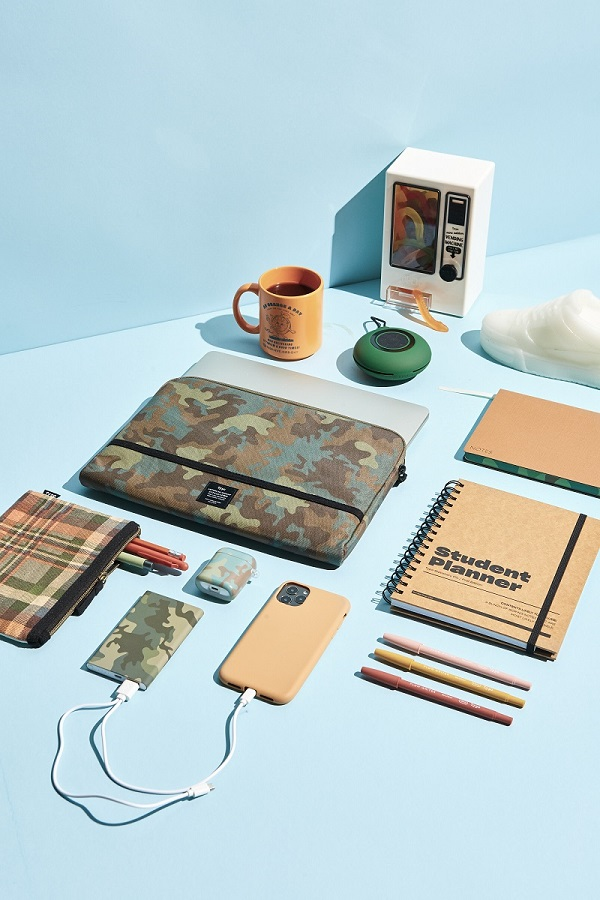 A laid out range of stationery and tech from Typo.