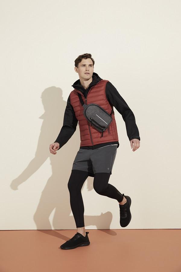 Male model wearing gym wear from M&S