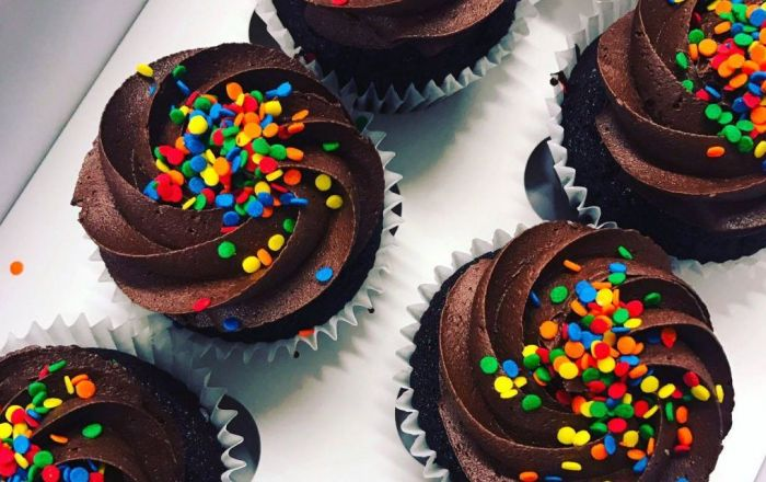cupcakes with colourful sprinkles