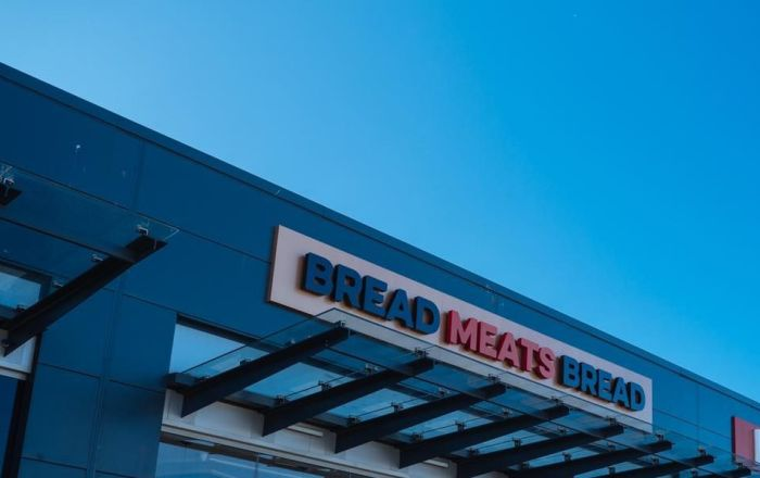 Bread Meats Bread store front sign