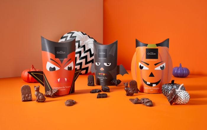 Halloween boxes of chocolates from Hotel Chocolat