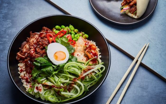 A bowl of wagamama food.