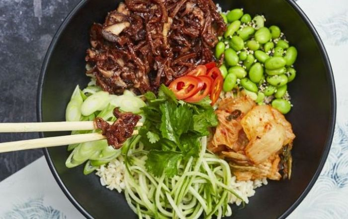 No duck donburi bowl from wagamama