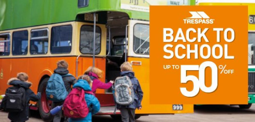 Trespass Back to School up to 50% off In Store Now!