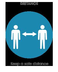 Keep a safe distance icon
