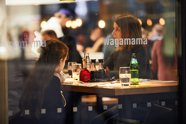 Mother and daughter dining at wagamama