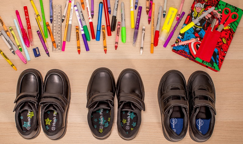 Three pairs of school shoes from Deichmann.